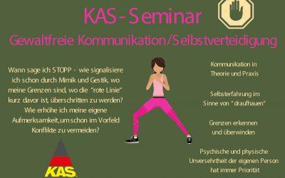 """KAS-Seminar """"Gewaltfreie Kommunikation/Selbstverteidigung"""""""