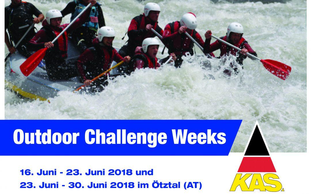 Action und Bewegung bis zum Adrenalinkick – Outdoor-Challenge-Weeks 2018