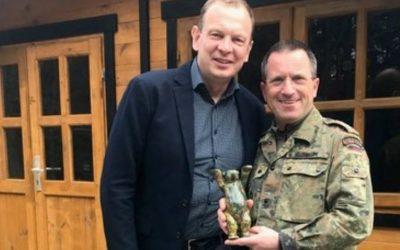 Festliche Verabschiedung von Oberstleutnant Kristian B. Schaum in Mayen