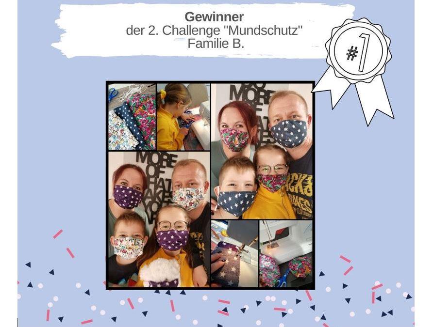 """KAS Familien Challenge 2020: Sieger der 2. Challenge """"Mundschutz"""" stehen fest!"""