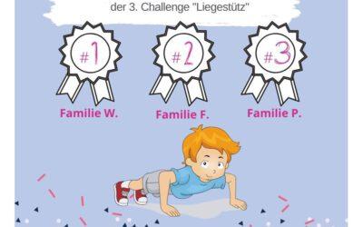 """KAS Familien Challenge 2020: Das sind die Gewinner der 3. Challenge """"Liegestütze""""!"""