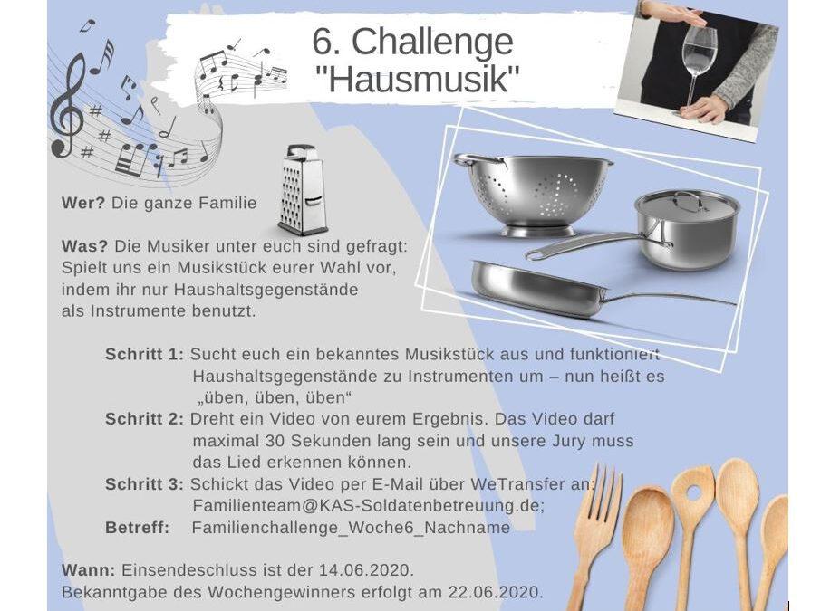 """KAS Familien Challenge 2020 für Bundeswehrfamilien – Die 6. Challenge: """"Hausmusik"""""""