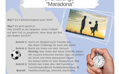 """KAS Familien Challenge 2020 für Bundeswehrfamilien – Die 9. Challenge: """"Maradona"""""""