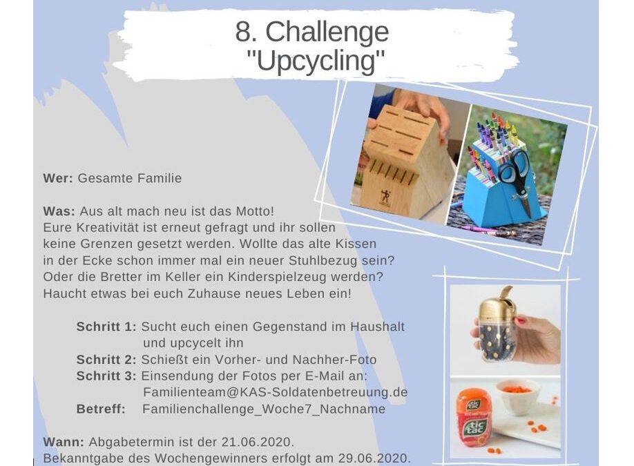 """KAS Familien Challenge 2020 für Bundeswehrfamilien – Die 7. Challenge: """"Upcycling"""""""