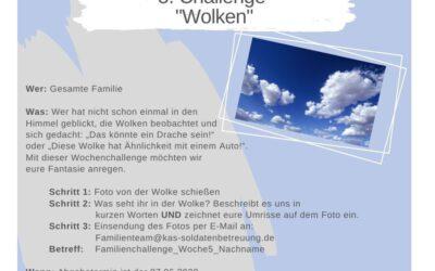 """KAS Familien Challenge 2020 für Bundeswehrfamilien – Die 5. Challenge: """"Wolken"""""""
