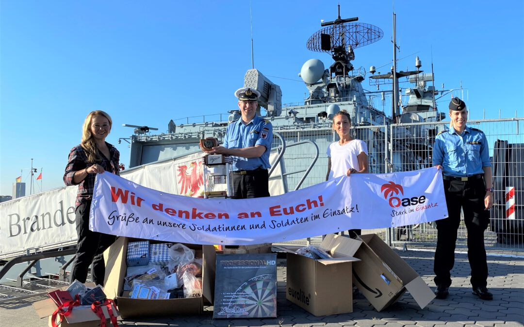 Stärkung für entbehrungsreichen Einsatz in der Ägäis – OASE-Einsatzbetreuung unterstützt Fregatte Brandenburg