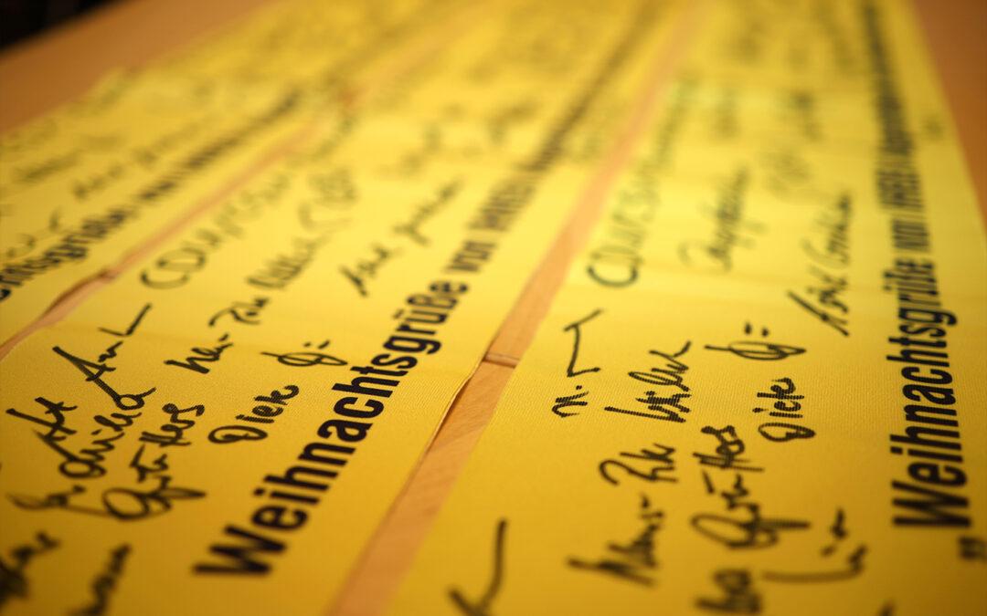 """Aktion """"Gelbe Bänder"""": Weihnachtsgrüße in den Einsatz"""