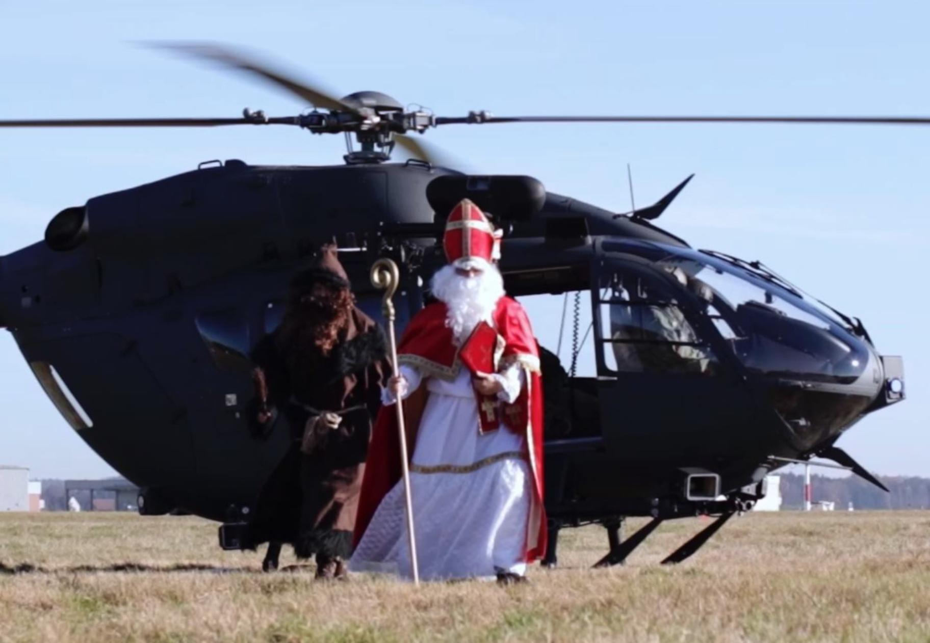 Nikolaus kommt per Hubschrauber